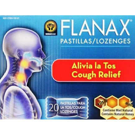 Flanax Cough Lozenges - Natural Honey - 20-Ct
