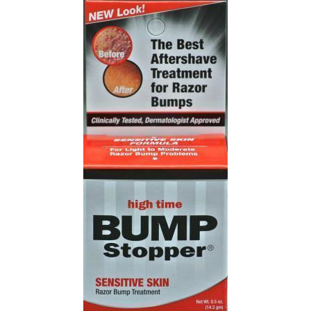 High Time Bump Stopper Sensitive Skin, 0.5Oz