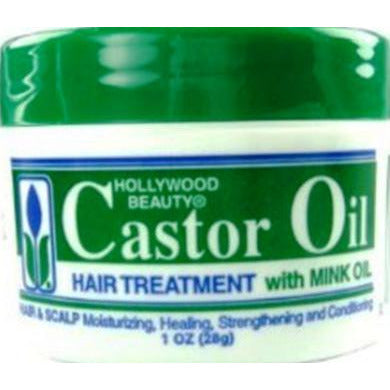 Hollywood Beauty Castor Oil Hair Treatment With Mink Oil, 1 Oz