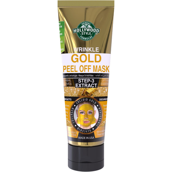 Hollywood Style Gold Peel Off Mask Tube, 3.2 Ounce