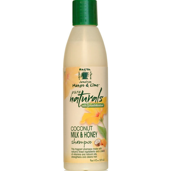 Jamaican Mango & Lime Pure Naturals Coconut Milk & Honey Shampoo, 8 Ounce