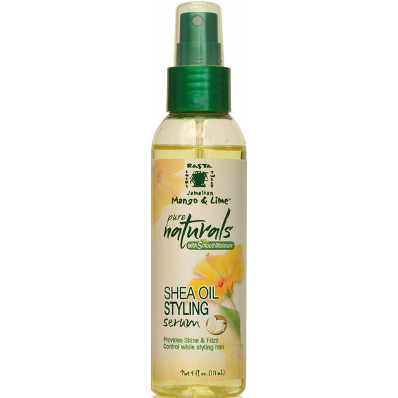 Jamaican Mango & Lime Pure Naturals With Smooth Moisture Shea Oil Styling Serum, 4 Ounce