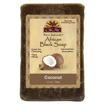 Okay African Black Soap With Coconut - 5.5 Oz