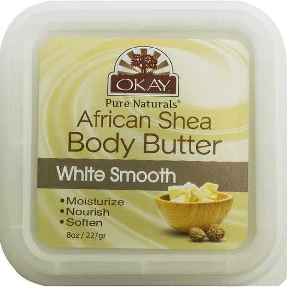 Okay African Shea Butter White Smooth, 8 Ounce