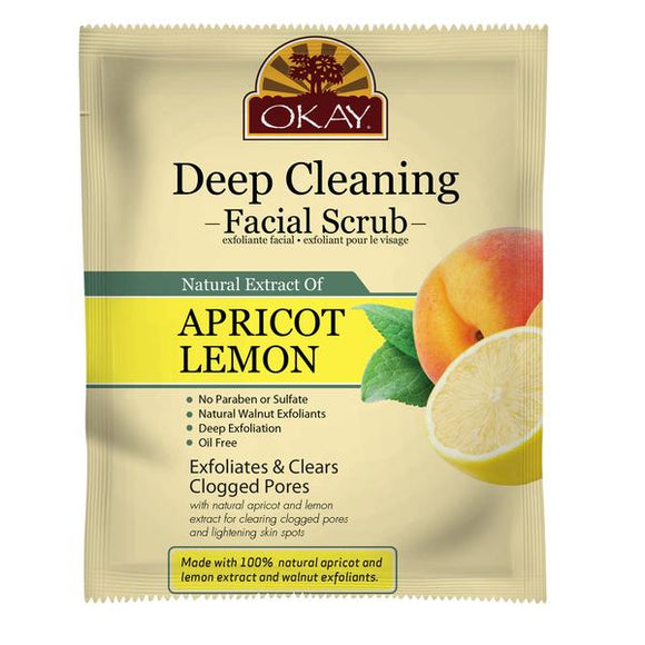 Okay Apricot & Lemon Facial Scrub (12 Pack)