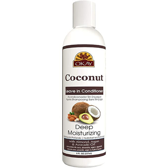 Okay Coconut Oil Deep Moisturizing Leave-In Conditioner - 8 Oz