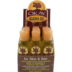 Okay Jojoba Oil For Hair & Skin 2 Oz (12 Pack)
