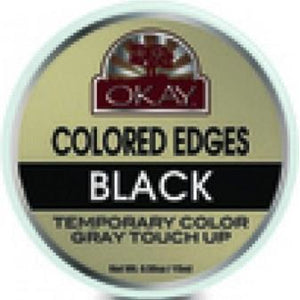 Okay Black Jamaican Castor Oil Polished Edges, (Pack of 12)