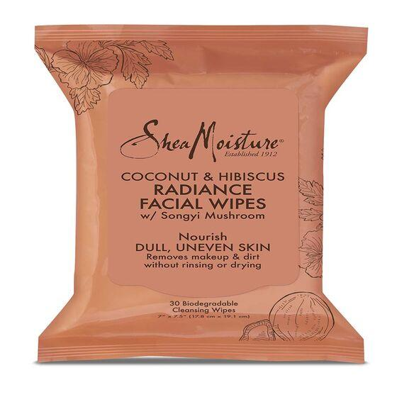 Shea Moisture Coconut & Hibiscus Facial Wipes -30 Ct