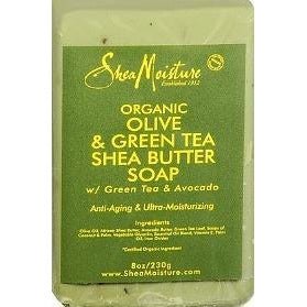 Shea Moisture Olive&Green Tea Raw Shea Soap 8 Oz