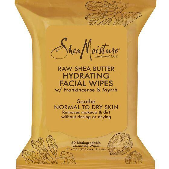 Sheamoisture Raw Shea Facial Wipes - 30 Count