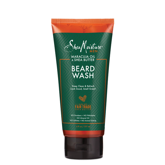 SheaMoisture Maracuja Oil & Shea Butter Beard Wash, 6 oz
