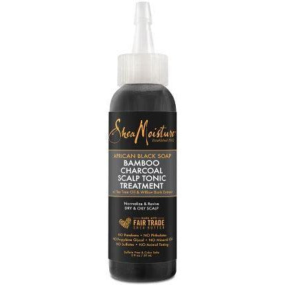 SheaMoisture African Black Soap Bamboo Charcoal Scalp Tonic Treatment - 2 Oz