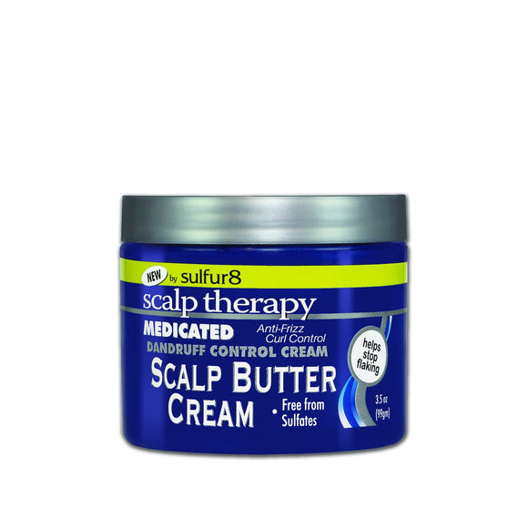 Sulfur 8 Scalp Therapy Medicated Dandruff Control Scalp Butter Cream 3.5 Oz