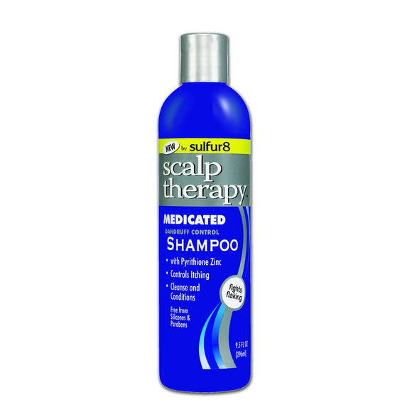 Sulfur 8 Scalp Therapy Medicated Shampoo 9.5 Oz