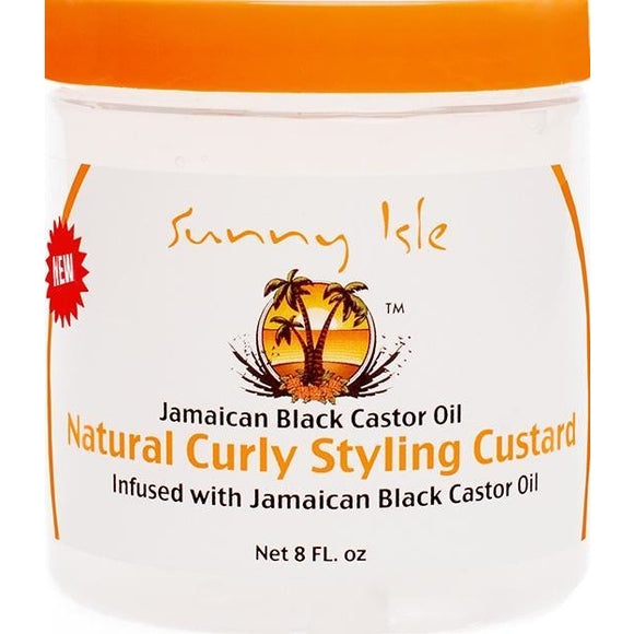 Sunny Isle Jamaican Black Castor Oil Natural Curly Styling Custard 8.Oz
