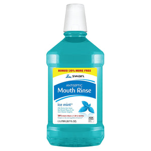 Antiseptic Mouth Rinse, Blue Ice Mint, 33.81 Oz