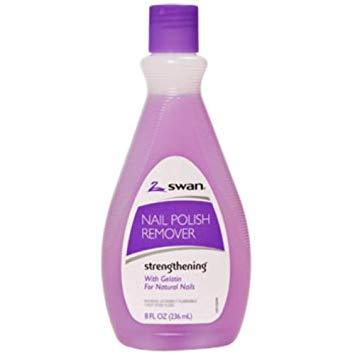 Swan Strengthening Nail Polish Remover - 6 Oz