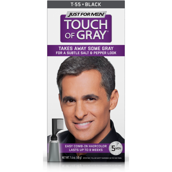 Touch Of Gray Black-Gray