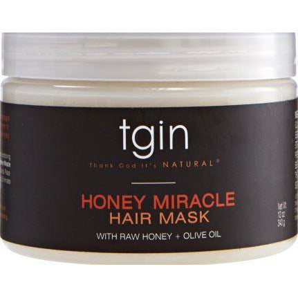 Tgin Honey Miracle Hair Mask Deep Conditioner With Raw Honey & Olive Oil For Natural Hair 12 Oz