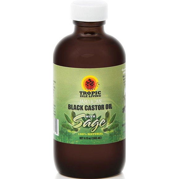 Tropic Isle Living Jamaican Black Caster Body Oil Sage 4 Oz