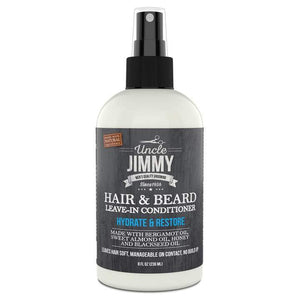 Uncle Jimmy Hair & Beard Leave In Conditioner - 8Oz