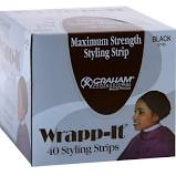 Wrapp-It Styling Strips For Natural Hair Wrap And Molded Styles By Graham Beauty (40 Strips)