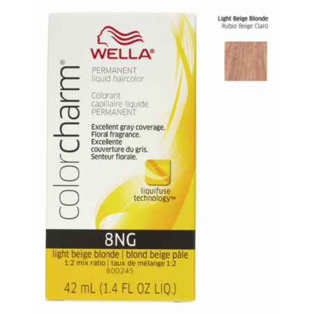 Wella Color Charm Permanent Liquid Haircolor Light Beige Blonde