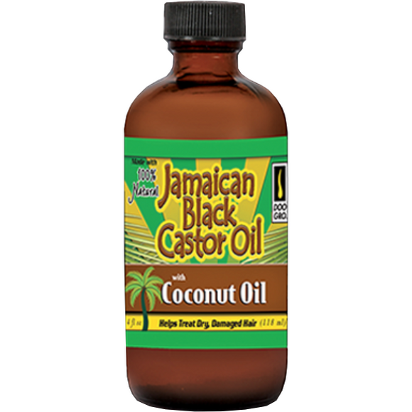 Doo Gro Jamaican Black Castor Oil With Coconut Oil, 4 Oz