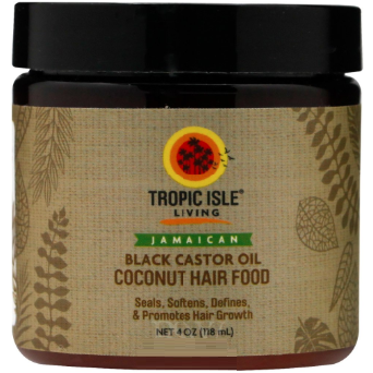 Tropic Isle Living Coconut Black Castor Oil Hair Food With Shea Butter 4 oz