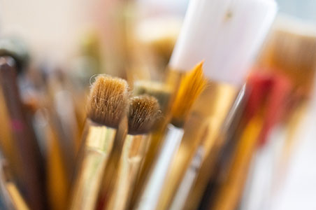 Paint brushes by Jerred Zegelis