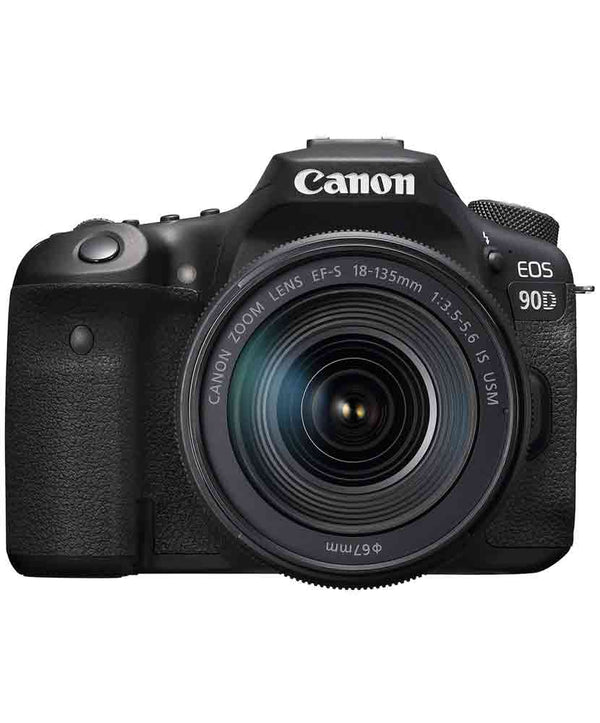 Canon EOS 90D DSLR camera with 18-135mm 3.5-5.6 IS USM Lens
