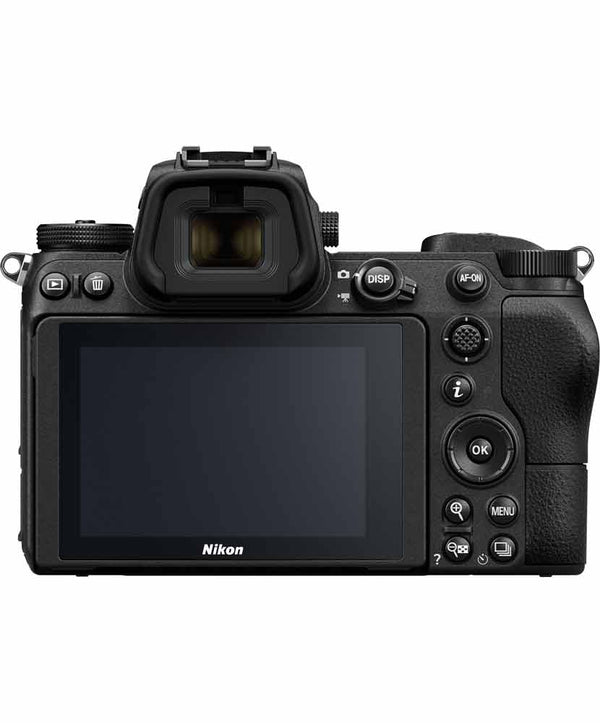 Back view of the Nikon Z6 Mirrorless Camera