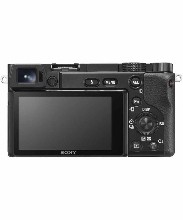 Sony a6100 LCD screen view