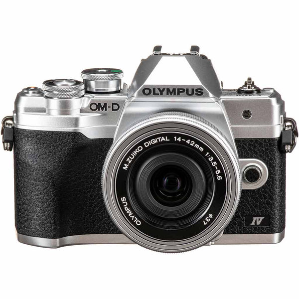 OLYMPUS E M10 IV WITH 14-42EZ LENS SILVER