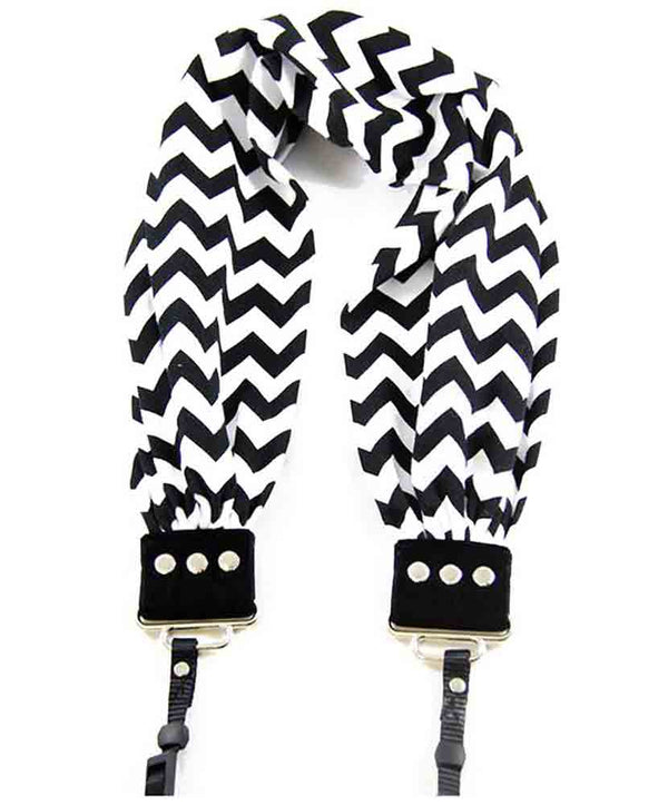CAPTURING COUTURE SCARF STRAP CHEVRON BLACK