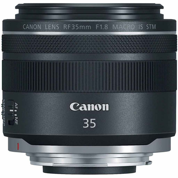 Front view of the Canon RF 35mm 1.8 STM Lens