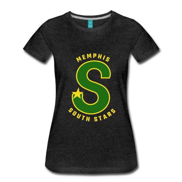 Memphis South Stars Women's T-Shirt (CHL) - charcoal gray