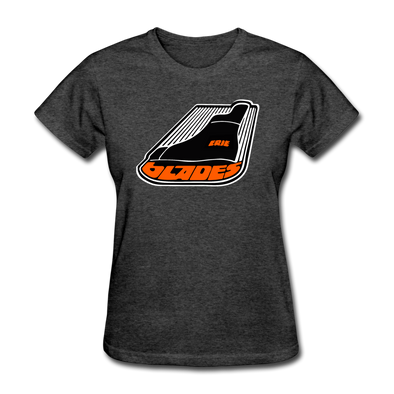 Erie Blades Women's Logo T-Shirt (NAHL) - heather black