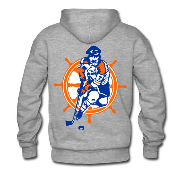 San Diego Mariners Double Sided Premium Hoodie (WHA) - heather gray