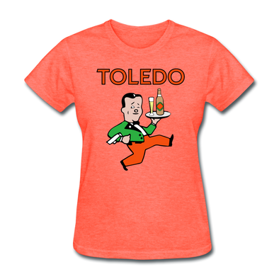 Toledo Buckeyes Logo Women's T-Shirt (EHL) - heather coral