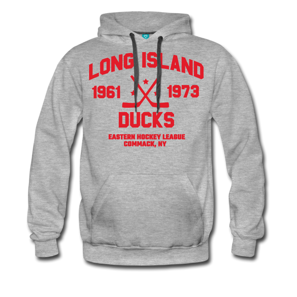 Long Island Ducks Double Sided Premium Hoodie (EHL) - heather gray