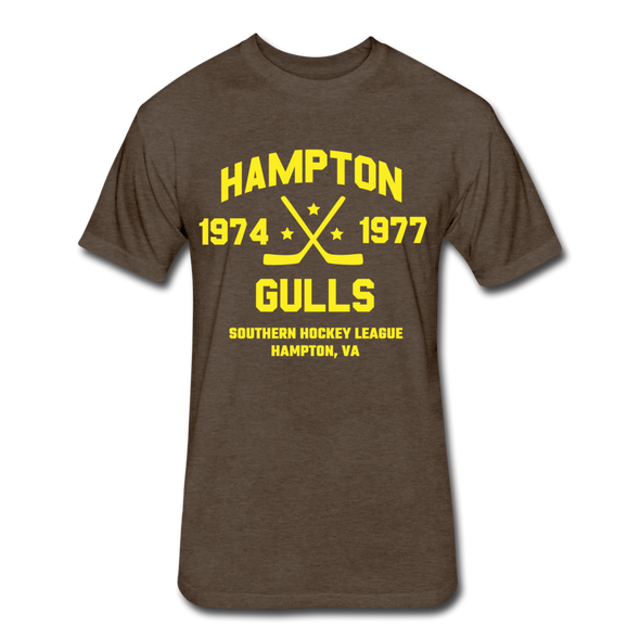Hampton Gulls Dated T-Shirt (SHL) - heather espresso