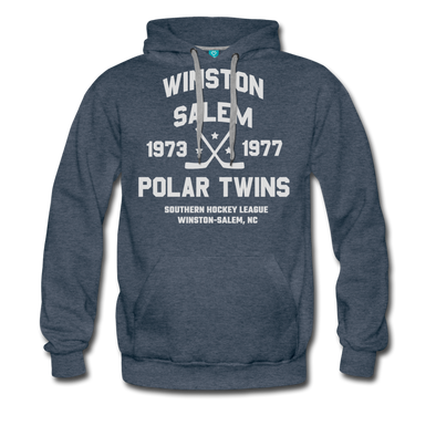 Winston-Salem Polar Twins Double Sided Premium Hoodie (SHL) - heather denim