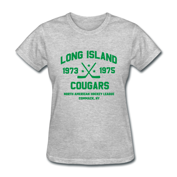 Long Island Cougars Dated Women's T-Shirt (NAHL) - heather gray