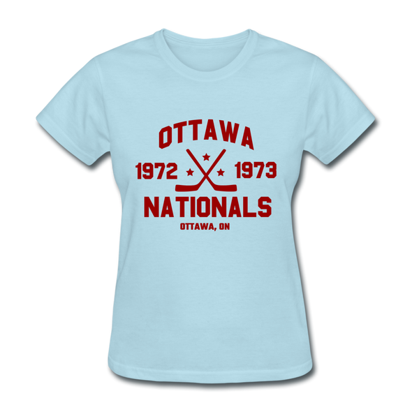 Ottawa Nationals Dated Women's T-Shirt (WHA) - powder blue
