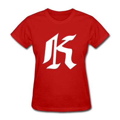 Knoxville Knights Logo Women's T-Shirt (EHL) - red