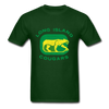 Long Island Cougars Distressed Logo T-Shirt (NAHL) - forest green