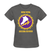 New York Golden Blades Logo Women's T-Shirt (WHA) - charcoal