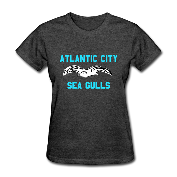 Atlantic City Sea Gulls Logo Women's T-Shirt (EHL) - heather black